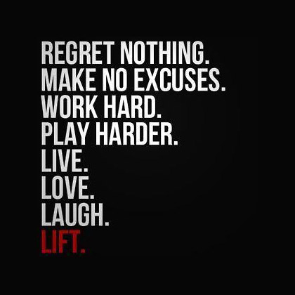 Hard Work Beats Talent Quote Wallpaper Regret Nothing Make No Excuses Work Hard Play Harder Live