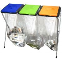 Recycling Stations - Triple Bin Bag Holder - Workplace ...