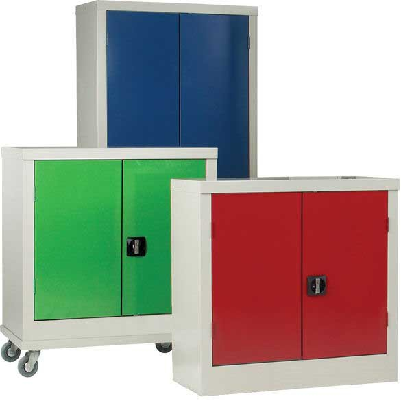 Metal Cupboard on Wheels