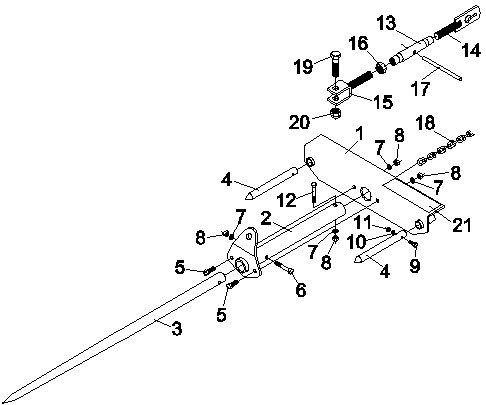 CBSF-2000 Bucket Bale Spear Parts List
