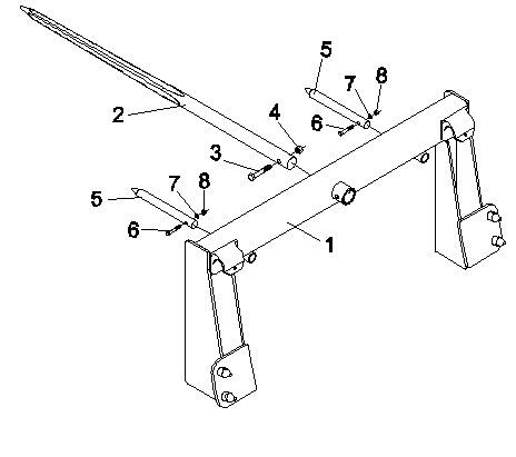 Integrated Frame Bale Spears JDBS-412