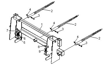 Integrated Frame Bale Spears JDBS-633