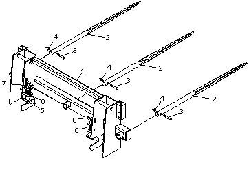 Integrated Frame Bale Spears JDBS-634