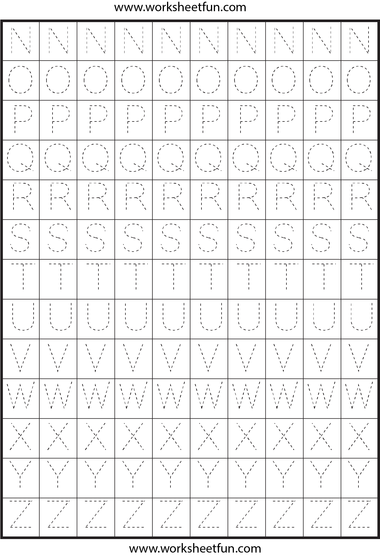Letter Tracing 2 Worksheets Free Printable Worksheets Worksheetfun