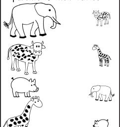 Animal Shadow Match – One Worksheet / FREE Printable Worksheets –  Worksheetfun [ 1933 x 1324 Pixel ]