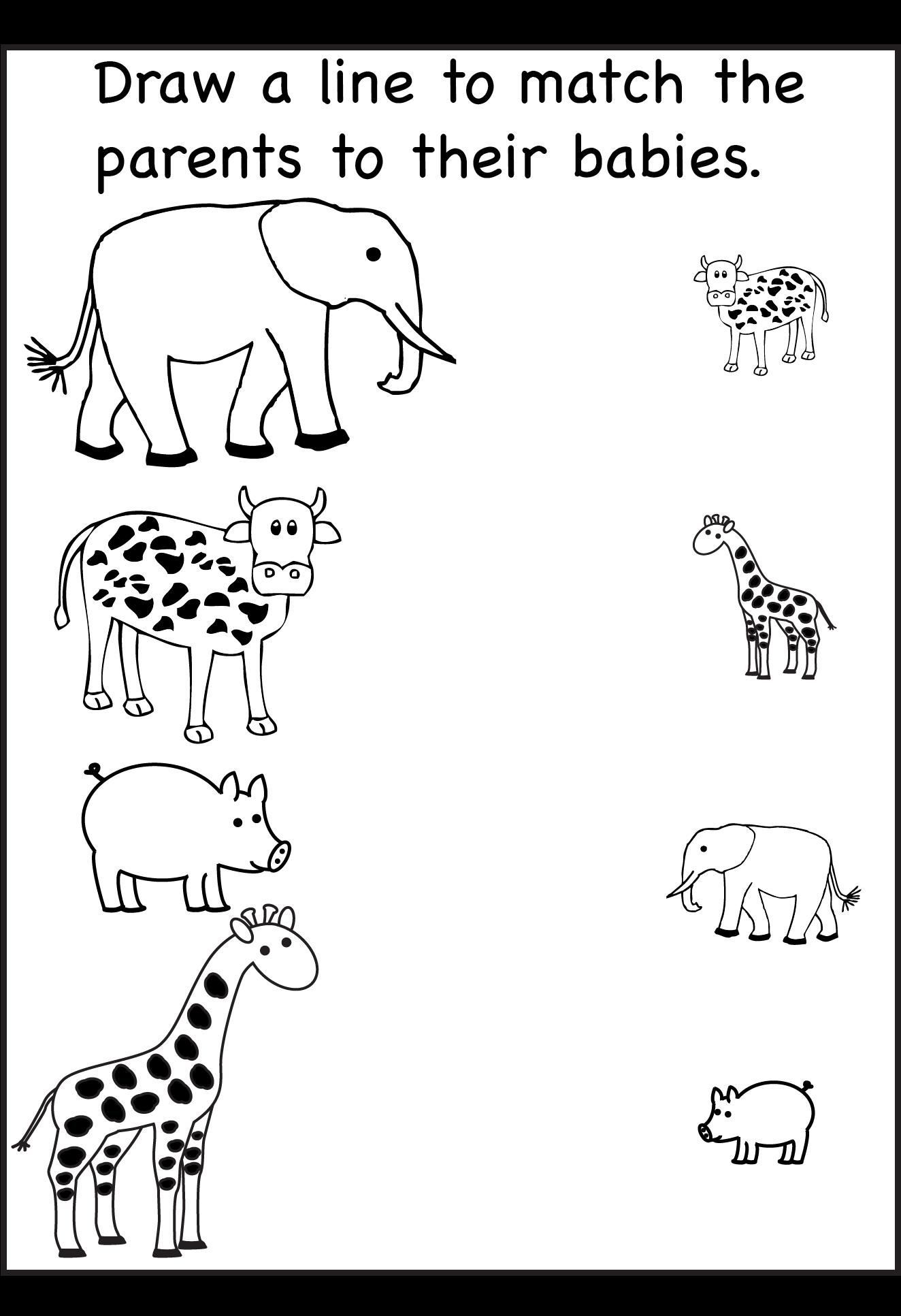 hight resolution of Animal Shadow Match – One Worksheet / FREE Printable Worksheets –  Worksheetfun