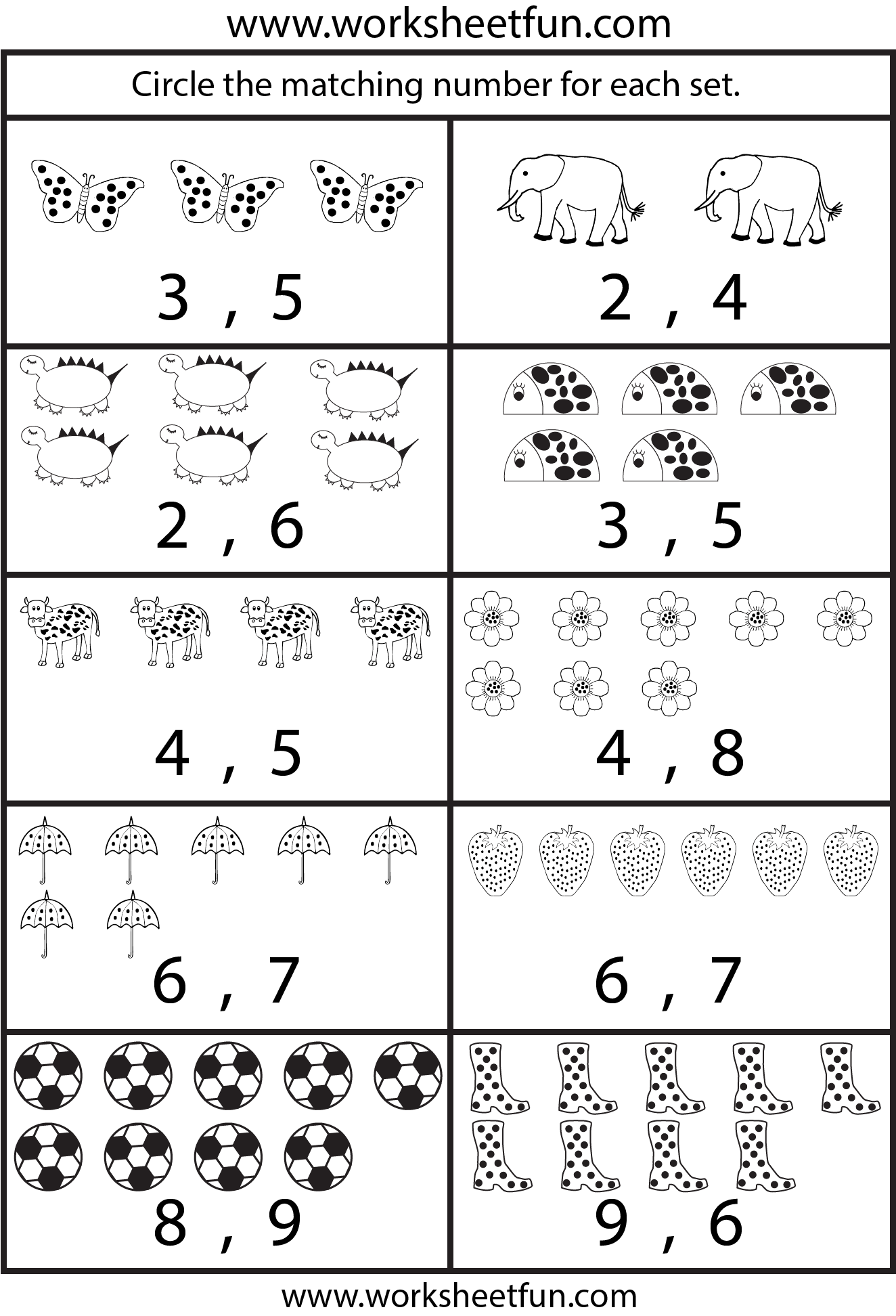 Worksheet For Counting 1 20