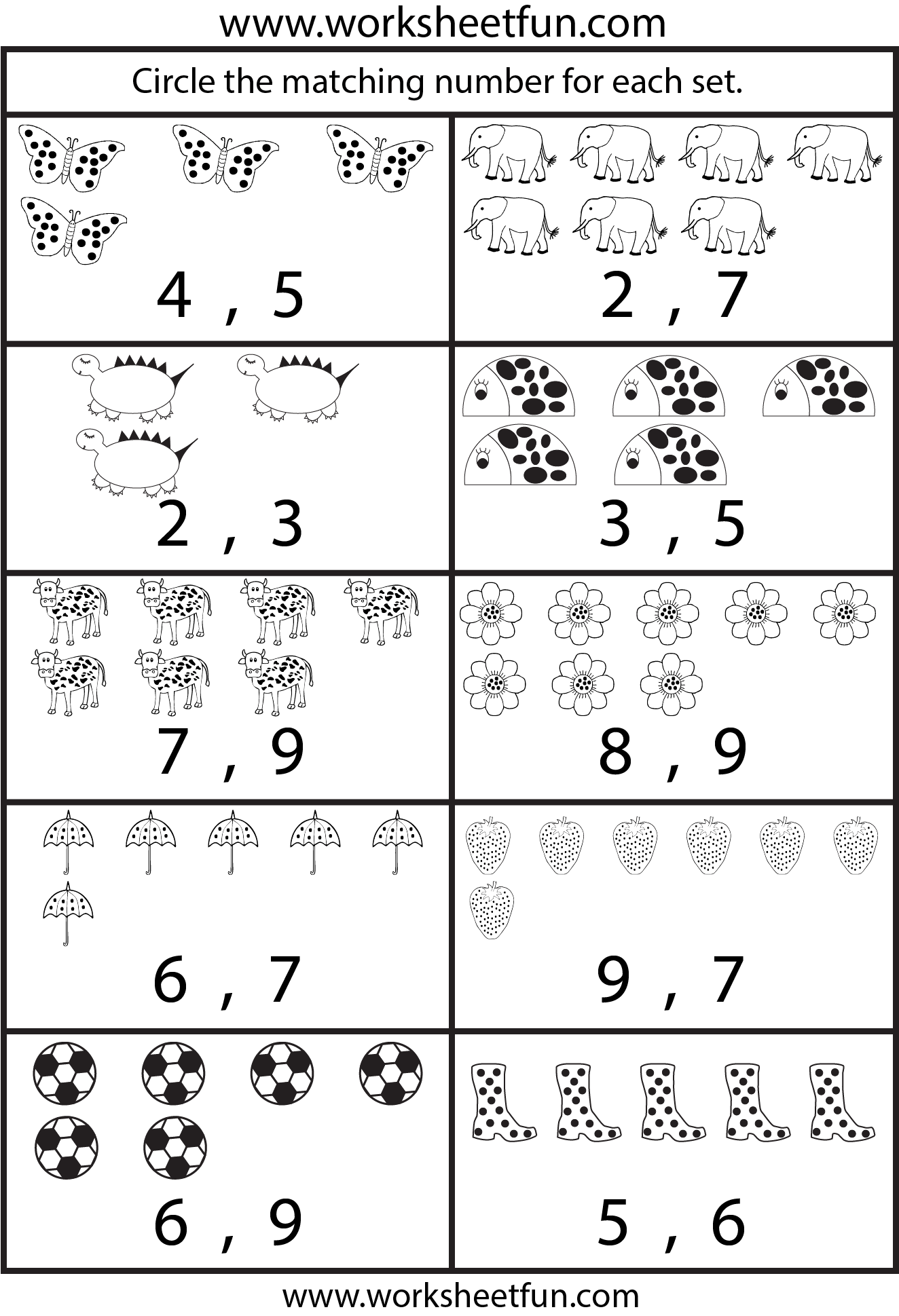 New 916 Counting Numbers Worksheets 1 50