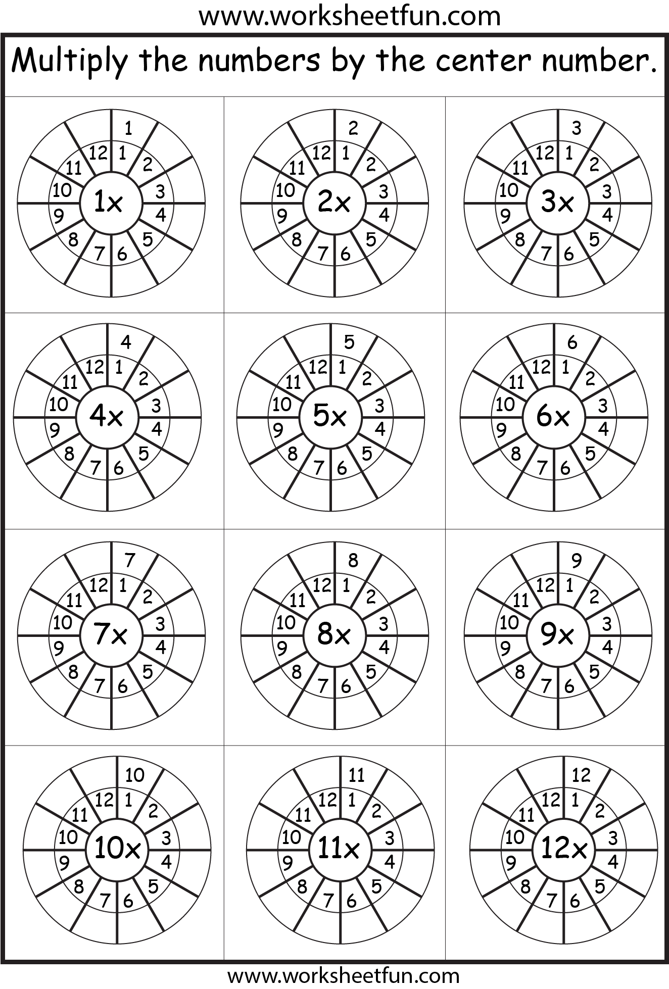 hight resolution of Times Table – 2-12 Worksheets – 1