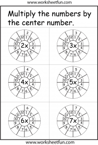Times Table Worksheet – 2-12 Times Tables