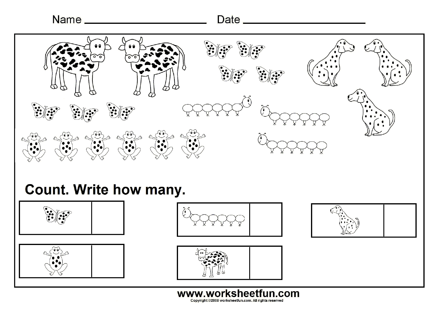 Counting Worksheets 7 Worksheets Free Printable Worksheets Worksheetfun