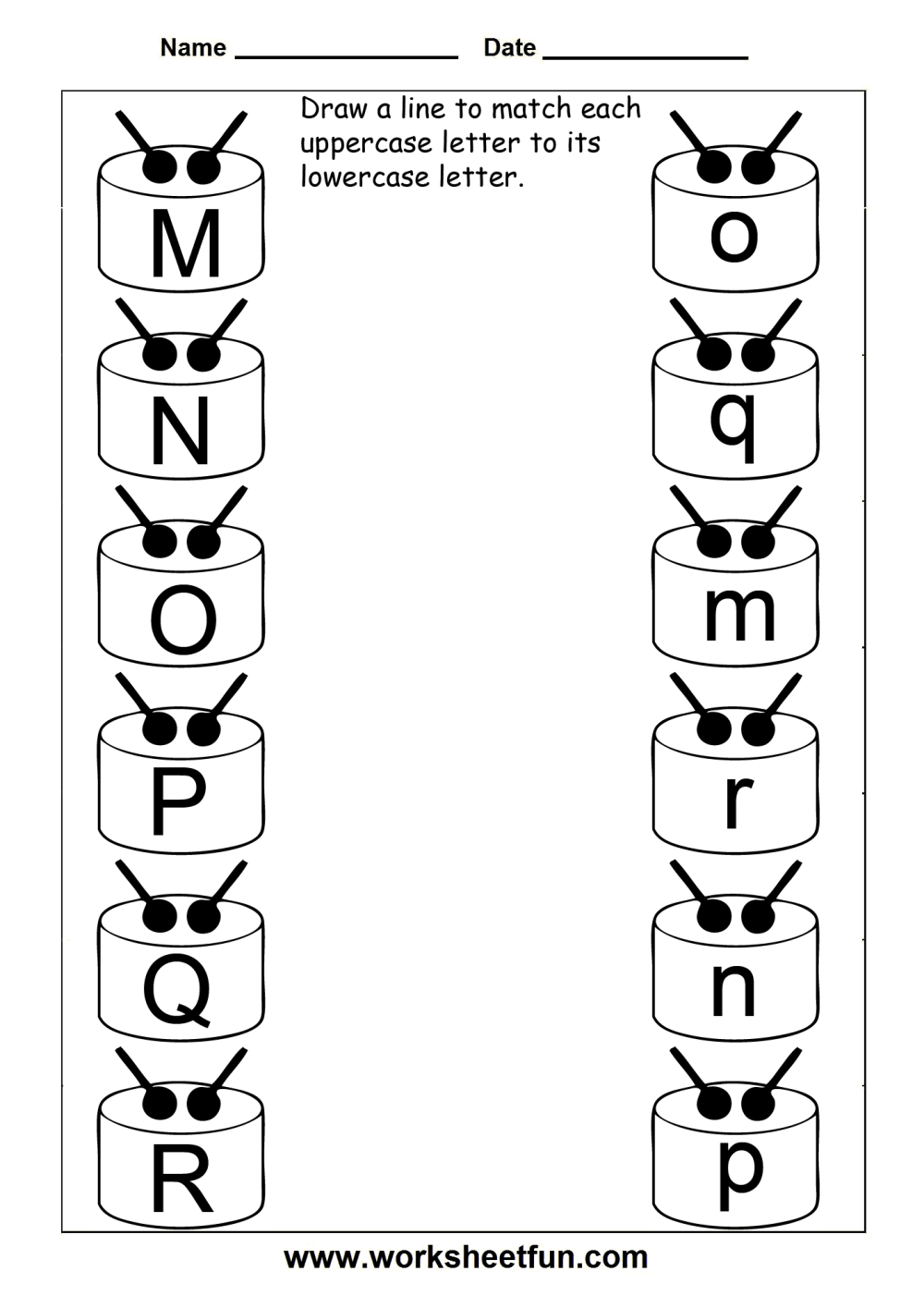medium resolution of Match Uppercase And Lowercase Letters – 13 Worksheets / FREE Printable  Worksheets – Worksheetfun