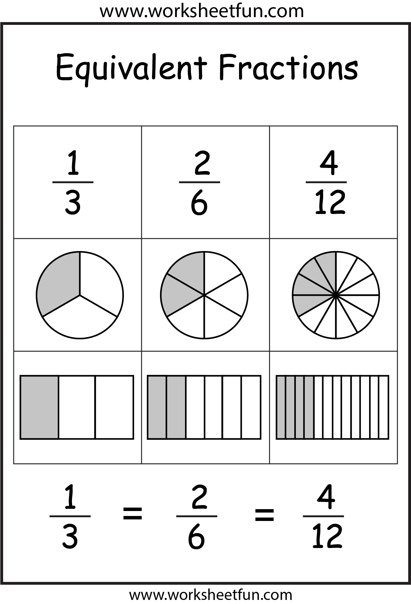 Equivalent Fractions 2 Worksheets Free Printable Worksheets Worksheetfun