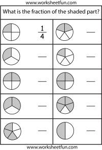 Fractions  4 Worksheets / FREE Printable Worksheets ...