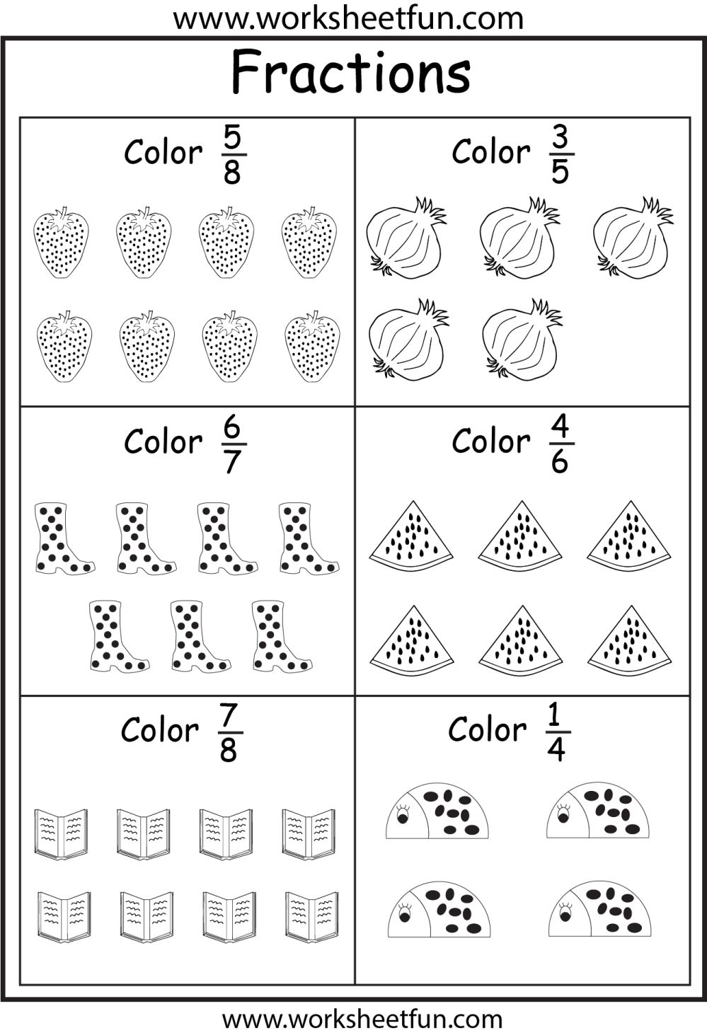 medium resolution of Fractions Activity Sheets