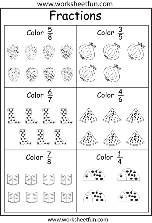 small resolution of Fractions Activity Sheets