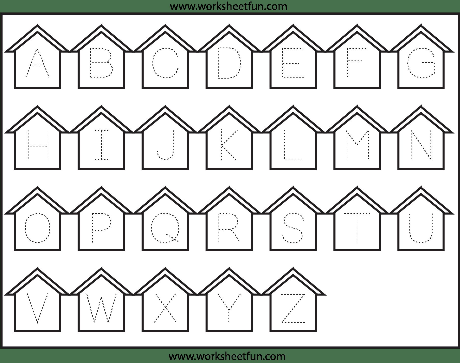 Letter Tracing Worksheets For Kindergarten Capital