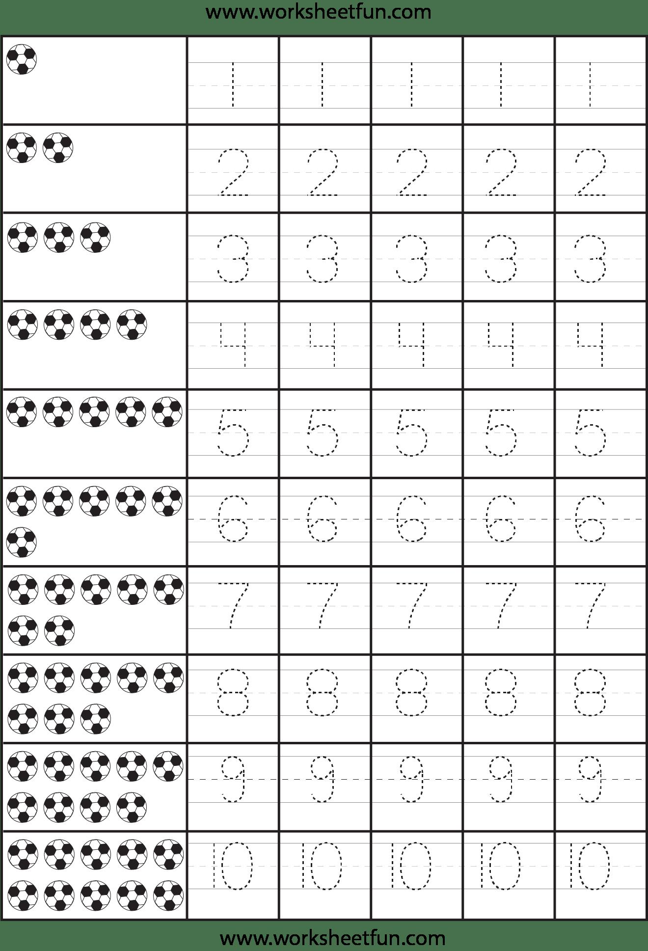 Number Tracing 1 Worksheet Free Printable Worksheets Worksheetfun