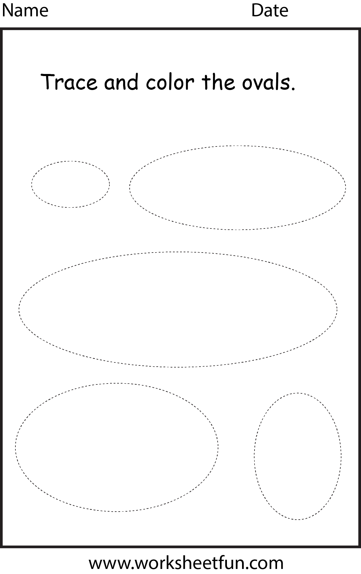 Shape Oval 1 Worksheet Free Printable Worksheets Worksheetfun