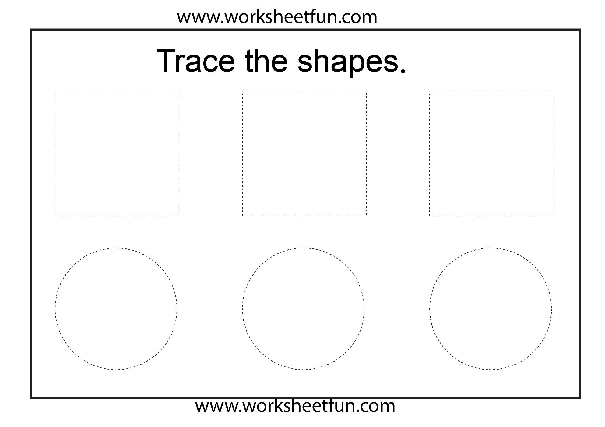 Shape Tracing 1 Worksheet Free Printable Worksheets