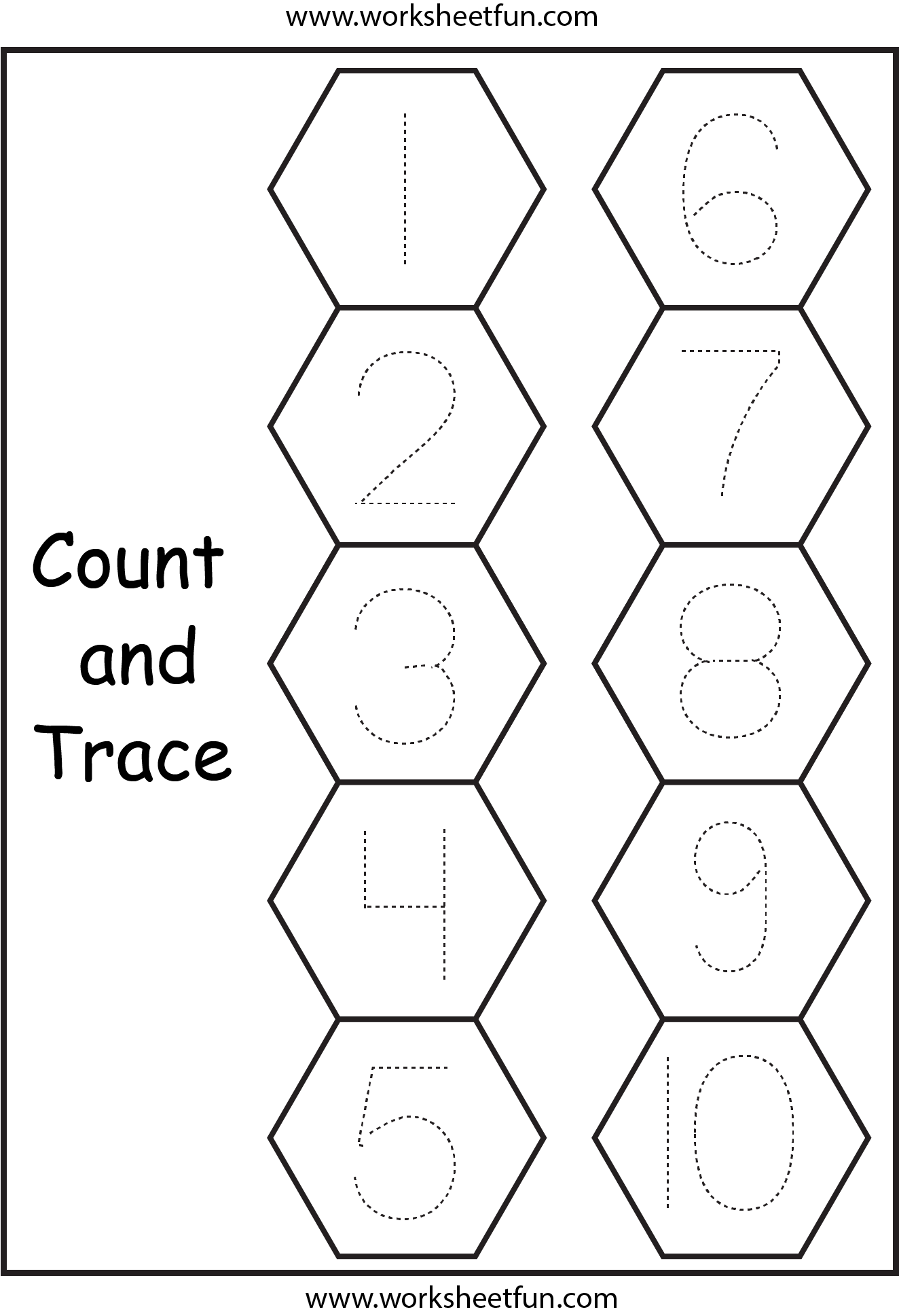 Number Tracing 1 Worksheet Free Printable Worksheets
