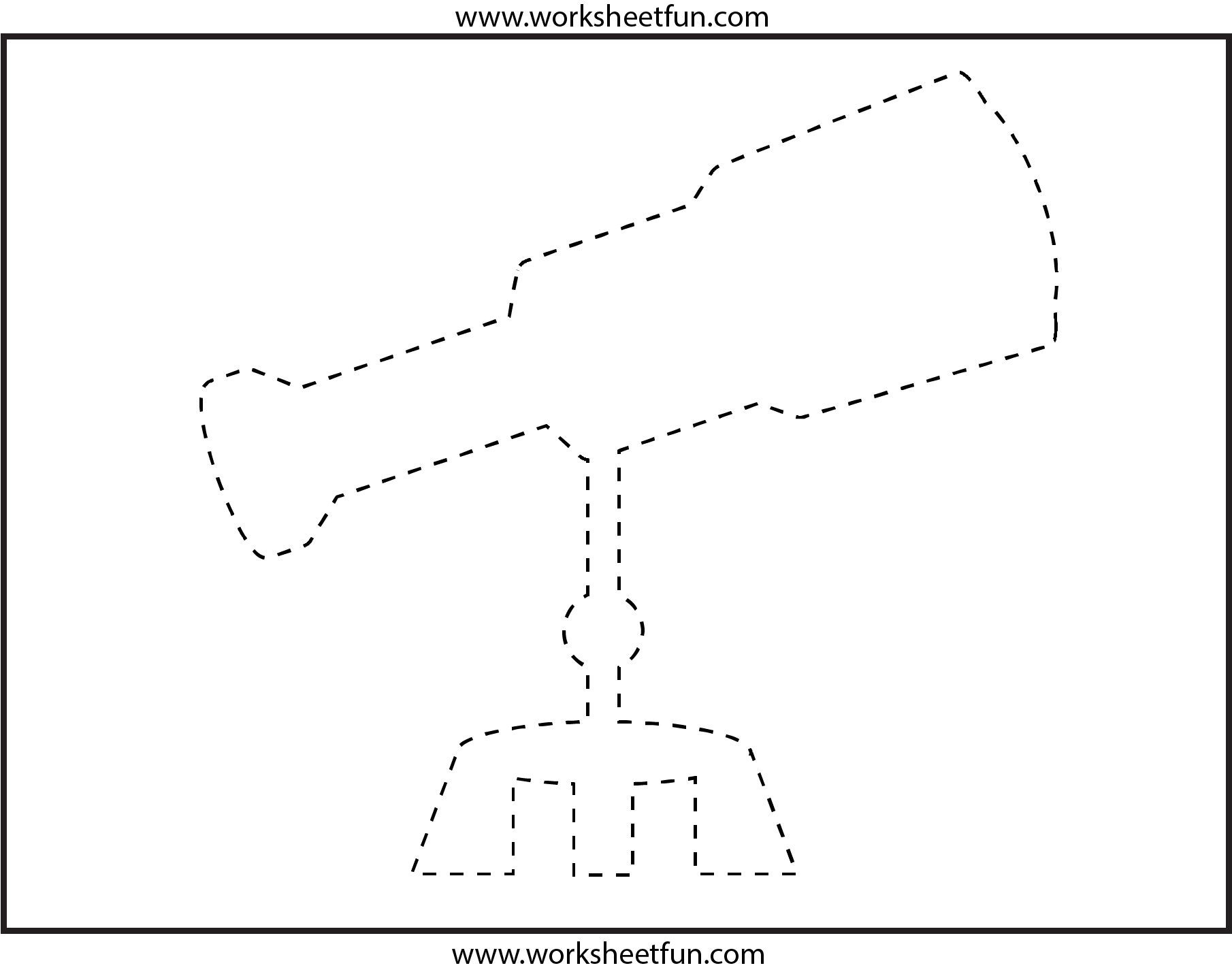 Picture Tracing Telescope 1 Worksheet Free Printable