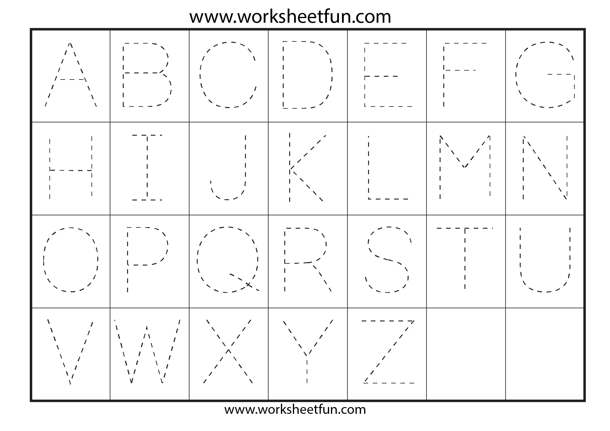 Letter Tracing Worksheets For Kindergarten Capital