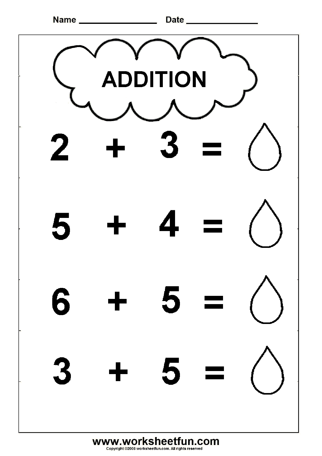 Beginner Addition 2 Kindergarten Addition Worksheets Free Printable Worksheets Worksheetfun
