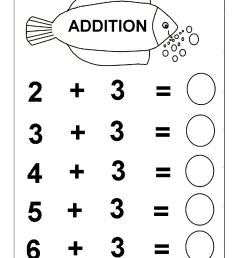 Beginner Addition – 6 Kindergarten Addition Worksheets / FREE Printable  Worksheets – Worksheetfun [ 1492 x 1054 Pixel ]