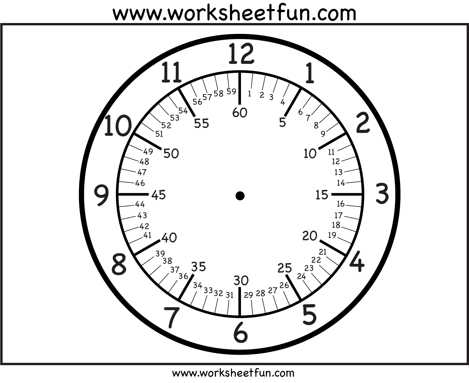Time Printable Clock Face 3 Worksheets Free