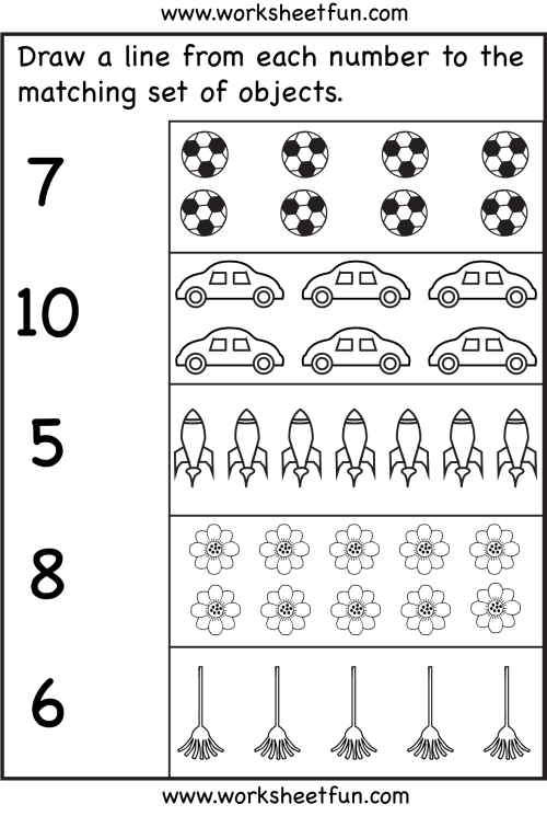 small resolution of Counting – Six Worksheets / FREE Printable Worksheets – Worksheetfun