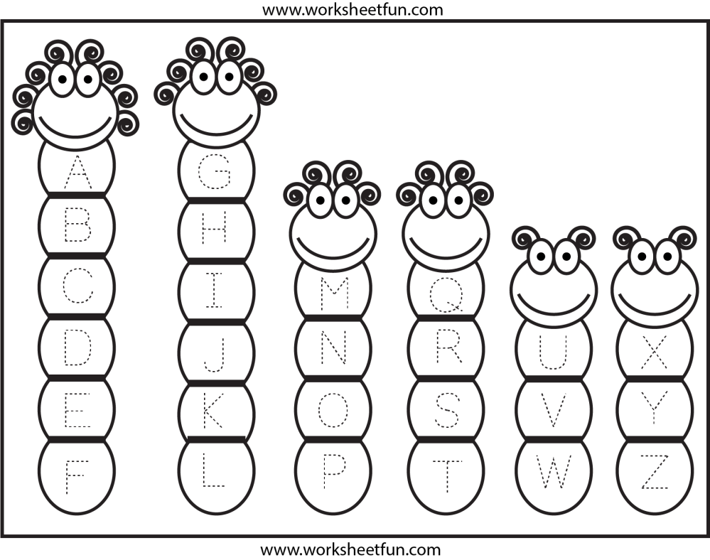 medium resolution of Tracing – Uppercase Letters – Capital Letters / FREE Printable Worksheets –  Worksheetfun