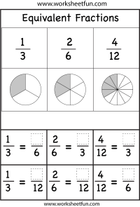 Equivalent Fractions  Two Worksheets / FREE Printable ...