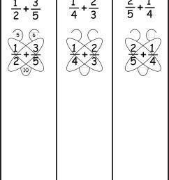 Fraction Addition – Butterfly Method / FREE Printable Worksheets –  Worksheetfun [ 1937 x 1325 Pixel ]
