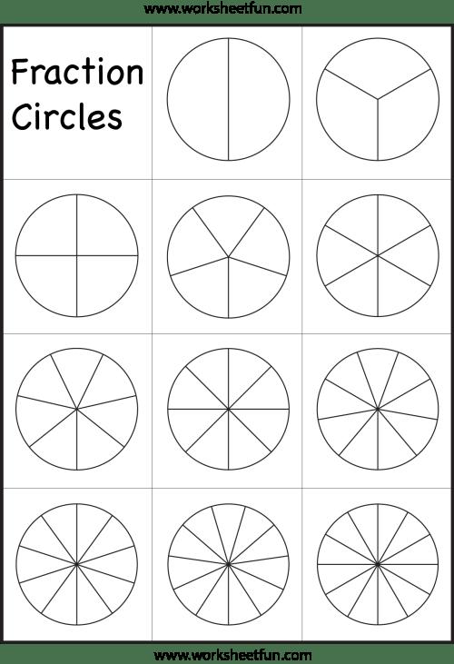small resolution of Fraction Circles Template – Printable Fraction Circles – 1 Worksheet / FREE  Printable Worksheets – Worksheetfun