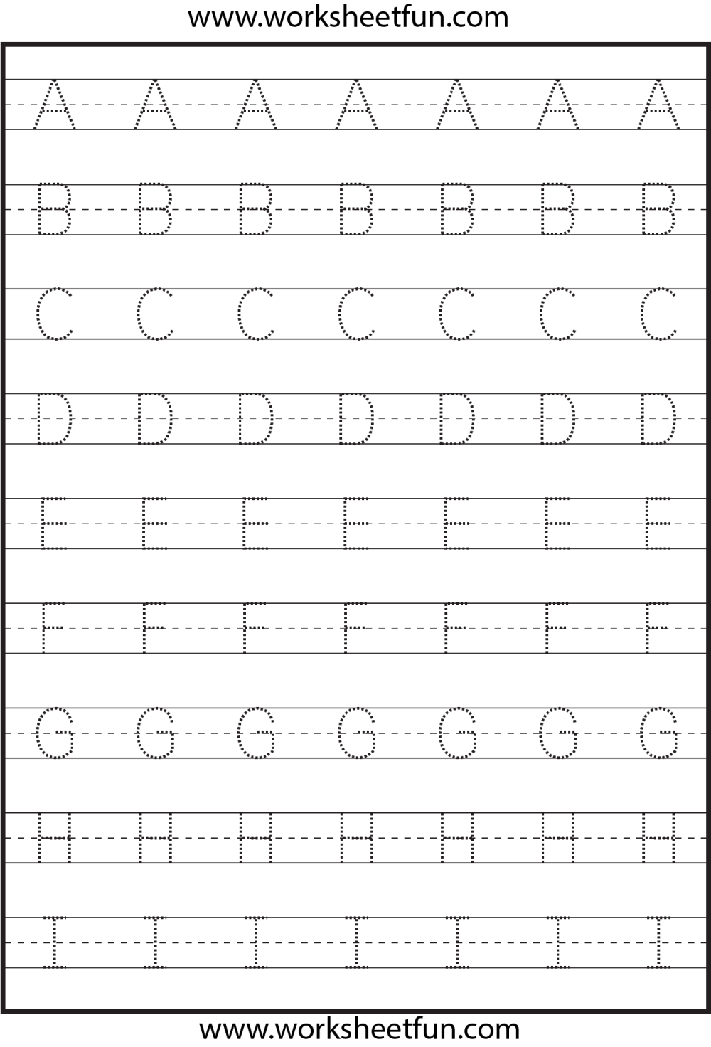 medium resolution of Tracing – Uppercase Letters – Capital Letters – 3 Worksheets / FREE  Printable Worksheets – Worksheetfun
