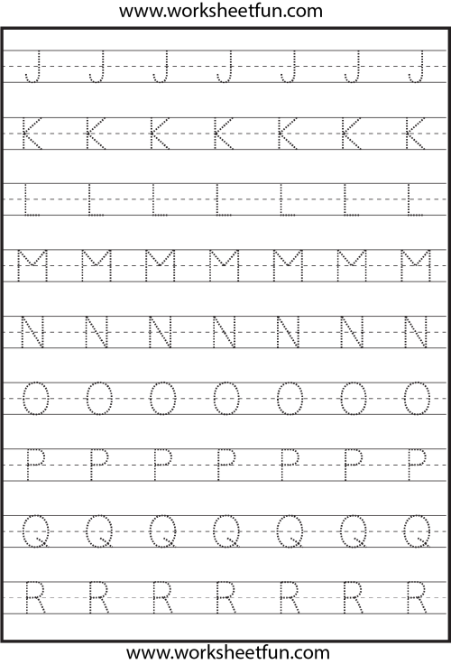 small resolution of Tracing – Uppercase Letters – Capital Letters – 3 Worksheets / FREE  Printable Worksheets – Worksheetfun