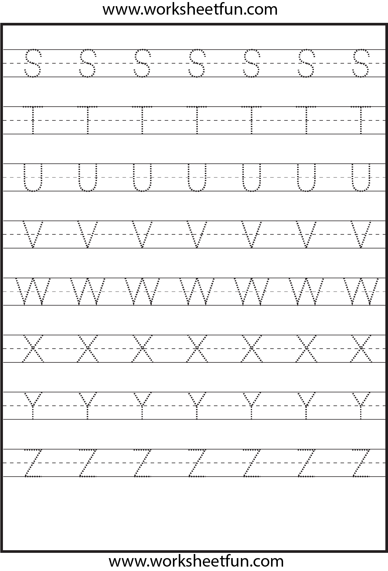 hight resolution of Tracing – Uppercase Letters – Capital Letters – 3 Worksheets / FREE  Printable Worksheets – Worksheetfun