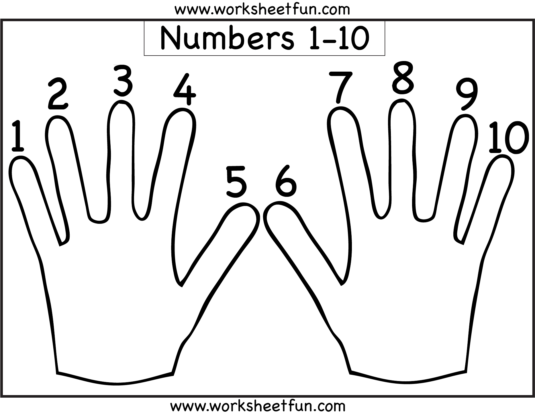 Number Counting 1 10 Free Printable Worksheets Worksheetfun