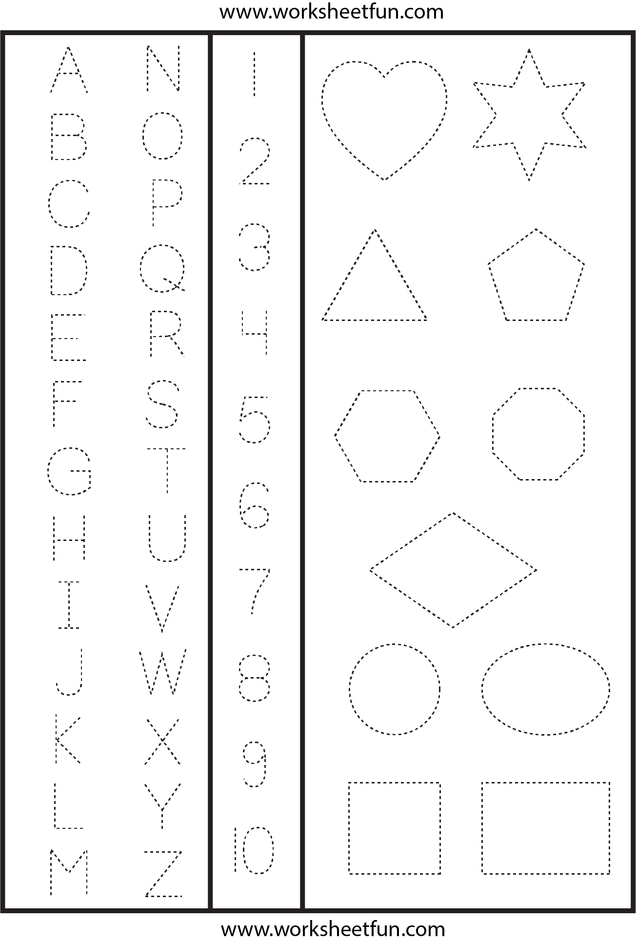 Tracing Numbers Alphabet