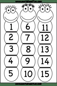 Number Chart 1-15 / FREE Printable Worksheets