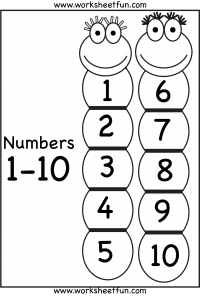 Number Chart – 1-10 / FREE Printable Worksheets