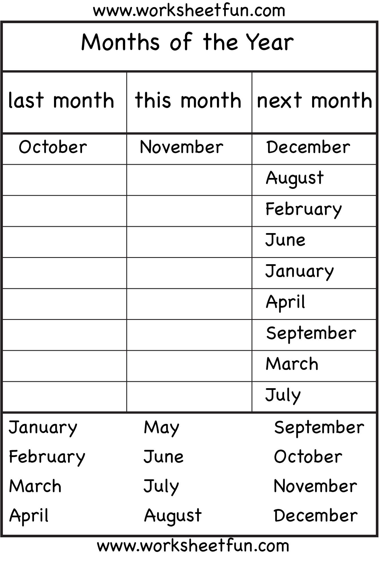 Months Of The Year 4 Worksheets Free Printable Worksheets Worksheetfun