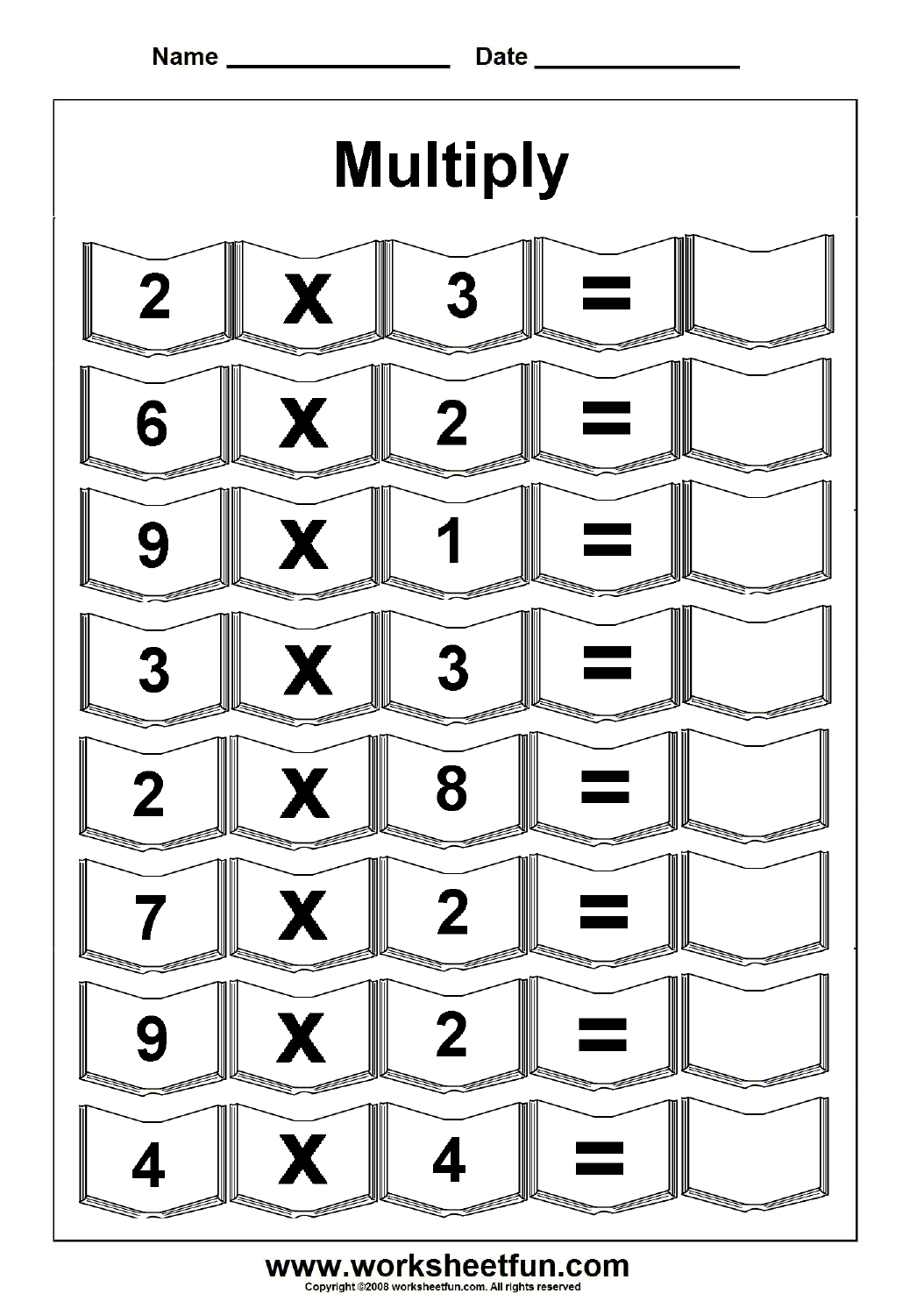 Beginning Multiplication Worksheet 10