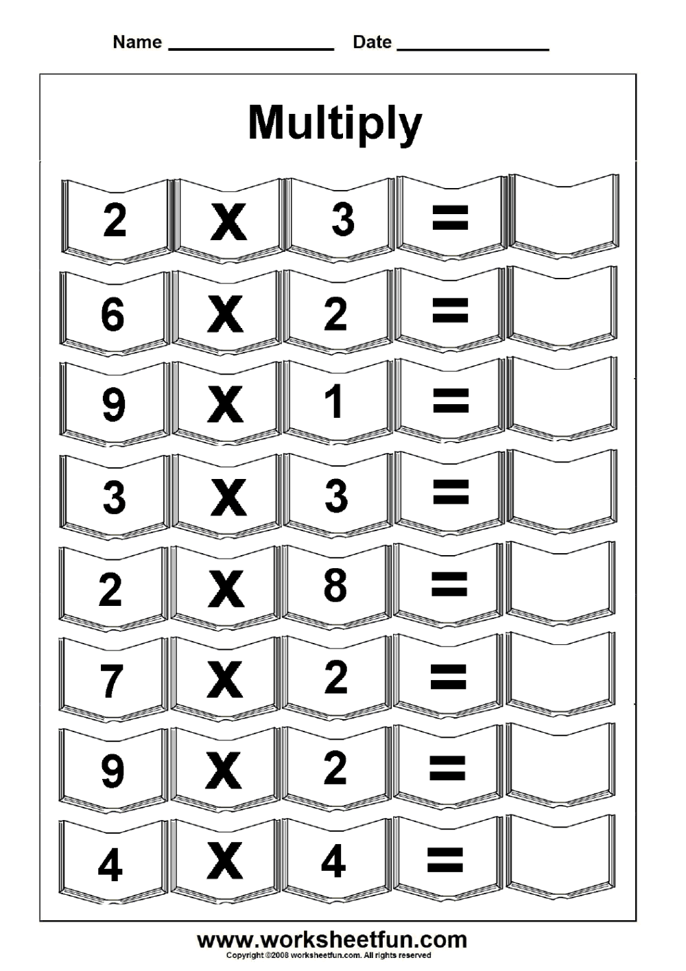medium resolution of Multiplication – 5 Worksheets / FREE Printable Worksheets – Worksheetfun