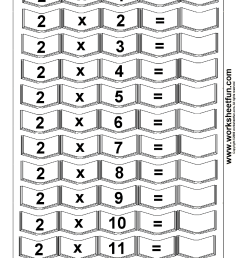Multiplication Times Tables Worksheets – 2 [ 1492 x 1054 Pixel ]