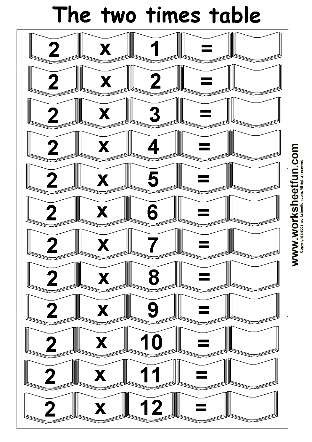 hight resolution of Multiplication Times Tables Worksheets – 2