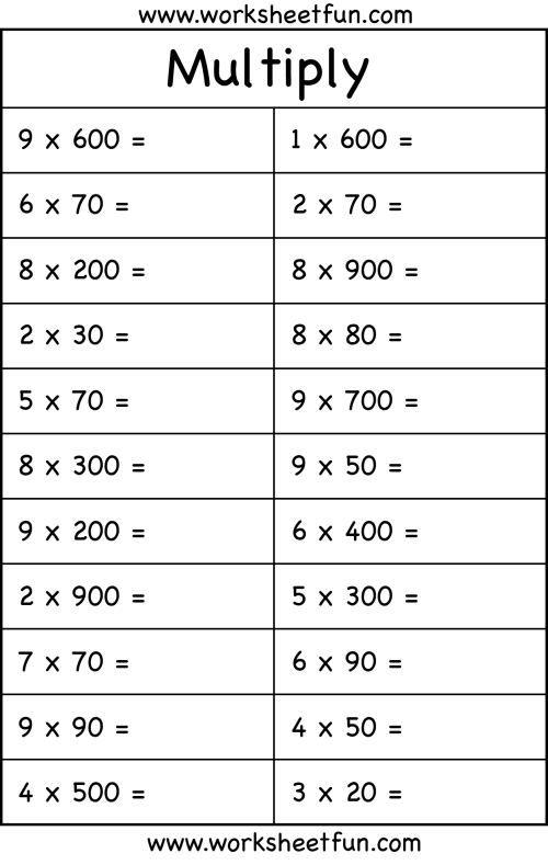small resolution of Multiplication with multiples of 10 – 1 Worksheet / FREE Printable  Worksheets – Worksheetfun