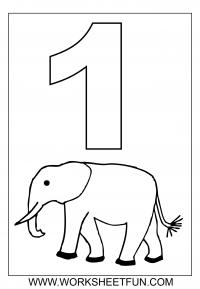 Number Coloring / FREE Printable Worksheets