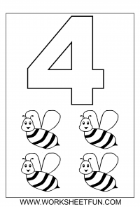 Number Coloring Pages 1
